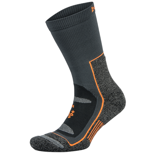 Blister Resist Crew Socks - Orange/Grey (Unisex)
