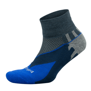Enduro Quarter Socks - Cobalt/Charcoal (Unisex)