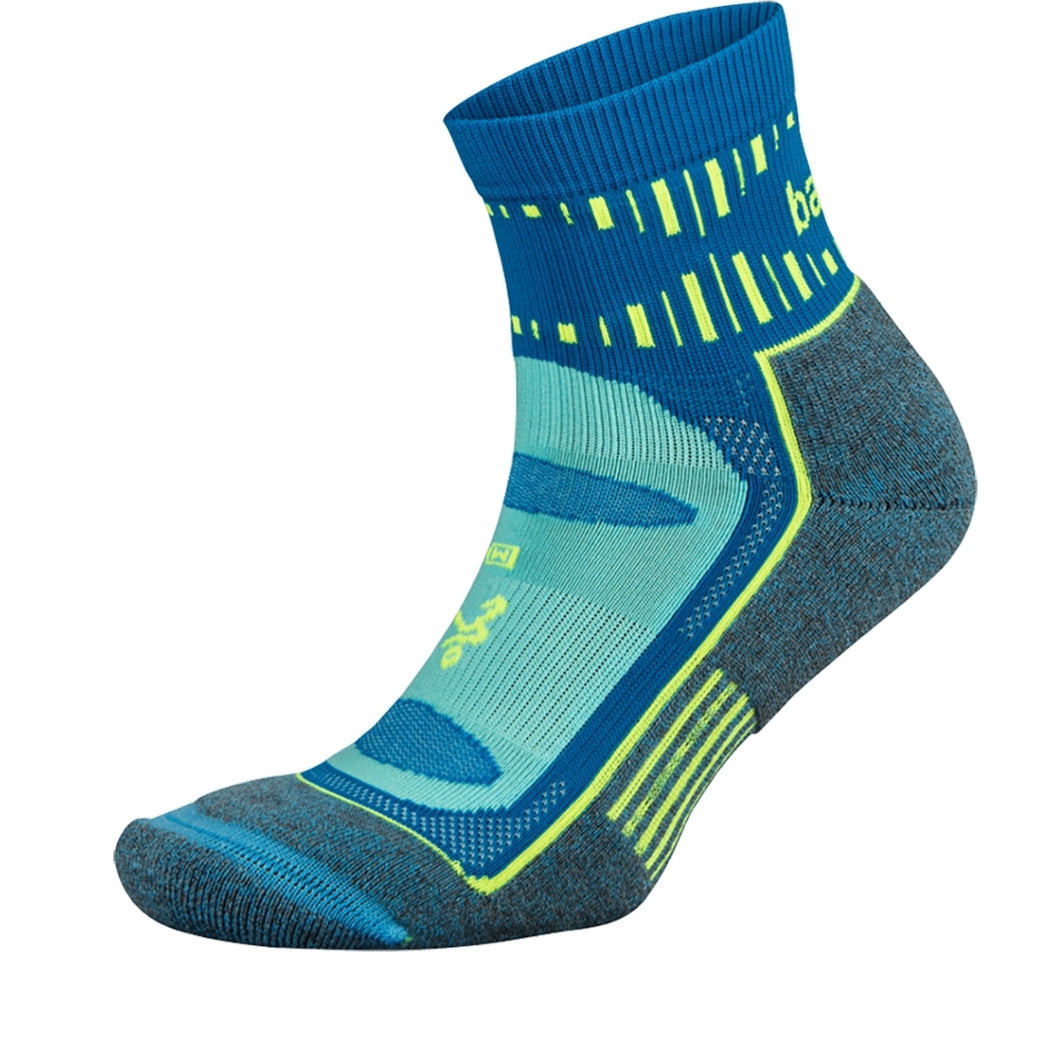 Blister Resist Quarter Socks - Ethereal Blue (Unisex)