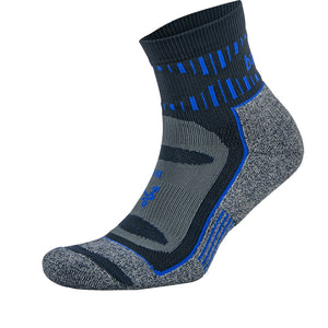 Blister Resist Quarter Socks - Ink/Cobalt (Unisex)