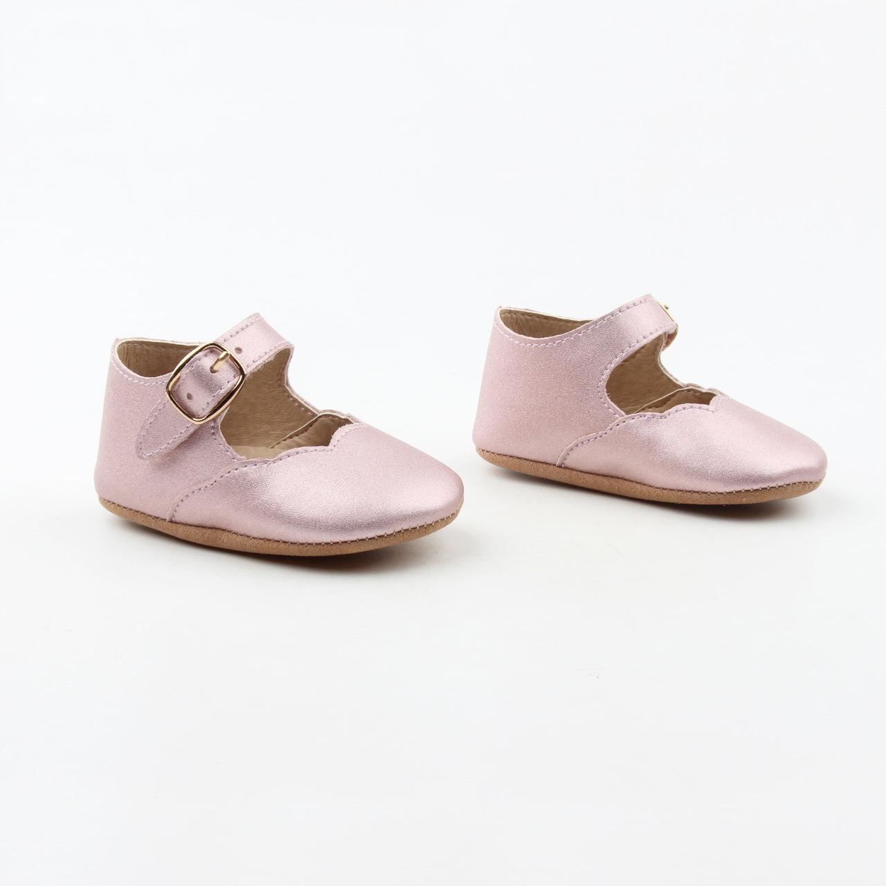 Rose Gold Mary Janes