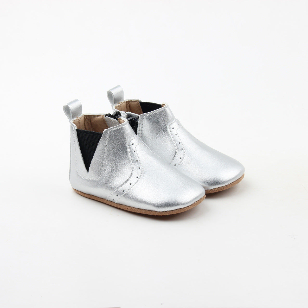 Twinkling Silver Chelsea Boots