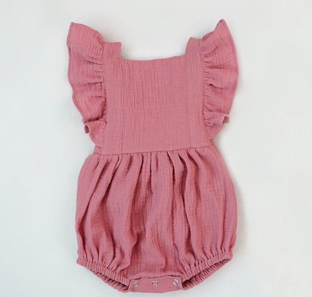 Sienna Romper in Rose