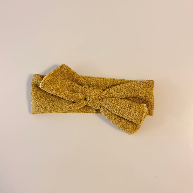 Top Knot Headband in Mustard