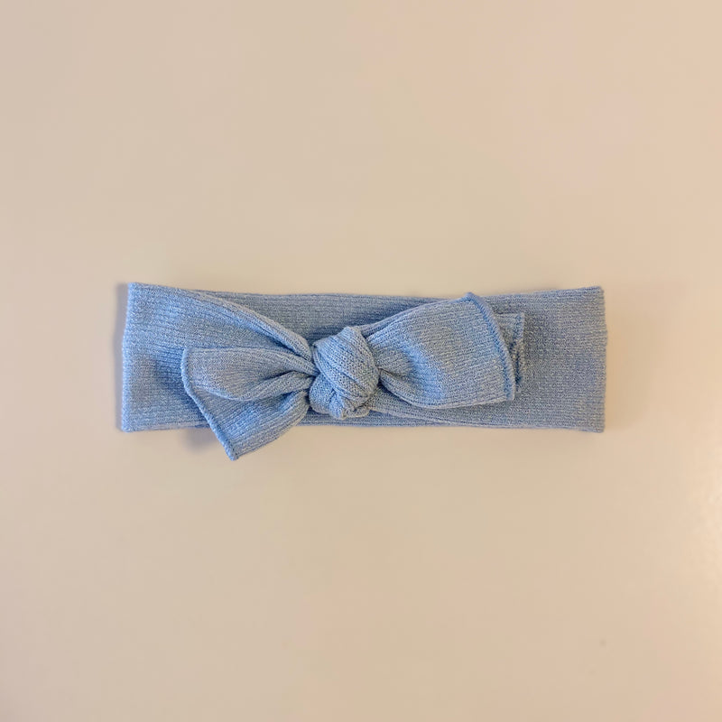 Top Knot Headband in Sky
