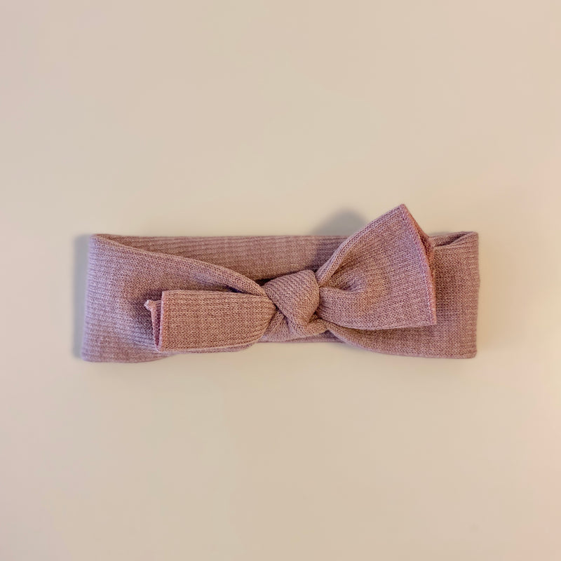 Top Knot Headband in Dusty Rose