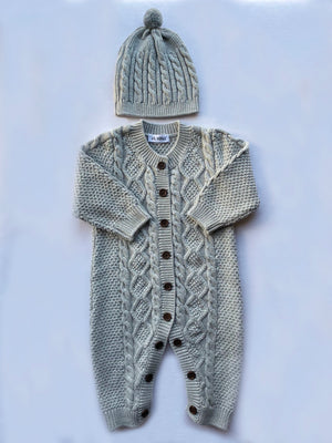 Sebastian Cable Knit Onesie