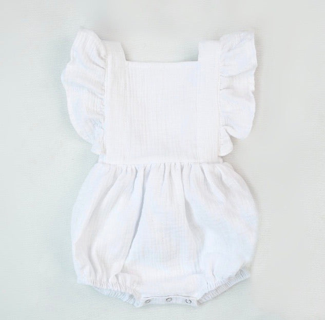 Sienna Romper in White Lily
