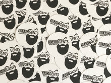 "Load image into Gallery viewer, 3"" Beard Gents Circle Sticker"