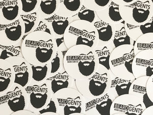 "3"" Beard Gents Circle Sticker"