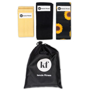 3 Pack Resistance Bands *Sunflower