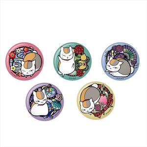 "Natsume Yuujinchou - ""Kirie Series"" Japanese Washi Paper Tin Badge"