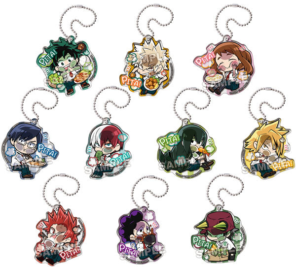Pita! Deforme My Hero Academia Let's Eat! Acrylic Keychain Blind Box