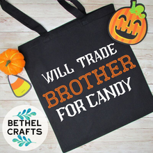 Load image into Gallery viewer, Autism Awareness Halloween Candy Bag