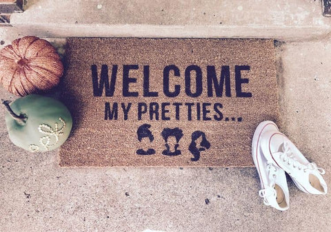 Welcome My Pretties Halloween Door Mat