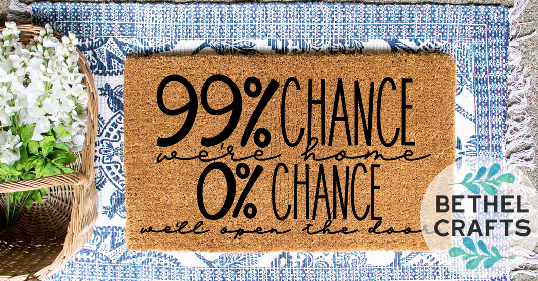 99% chance we're home doormat