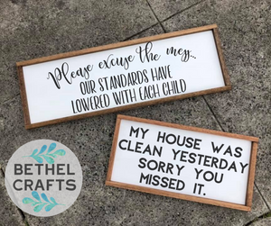 Messy House Sign Bundle