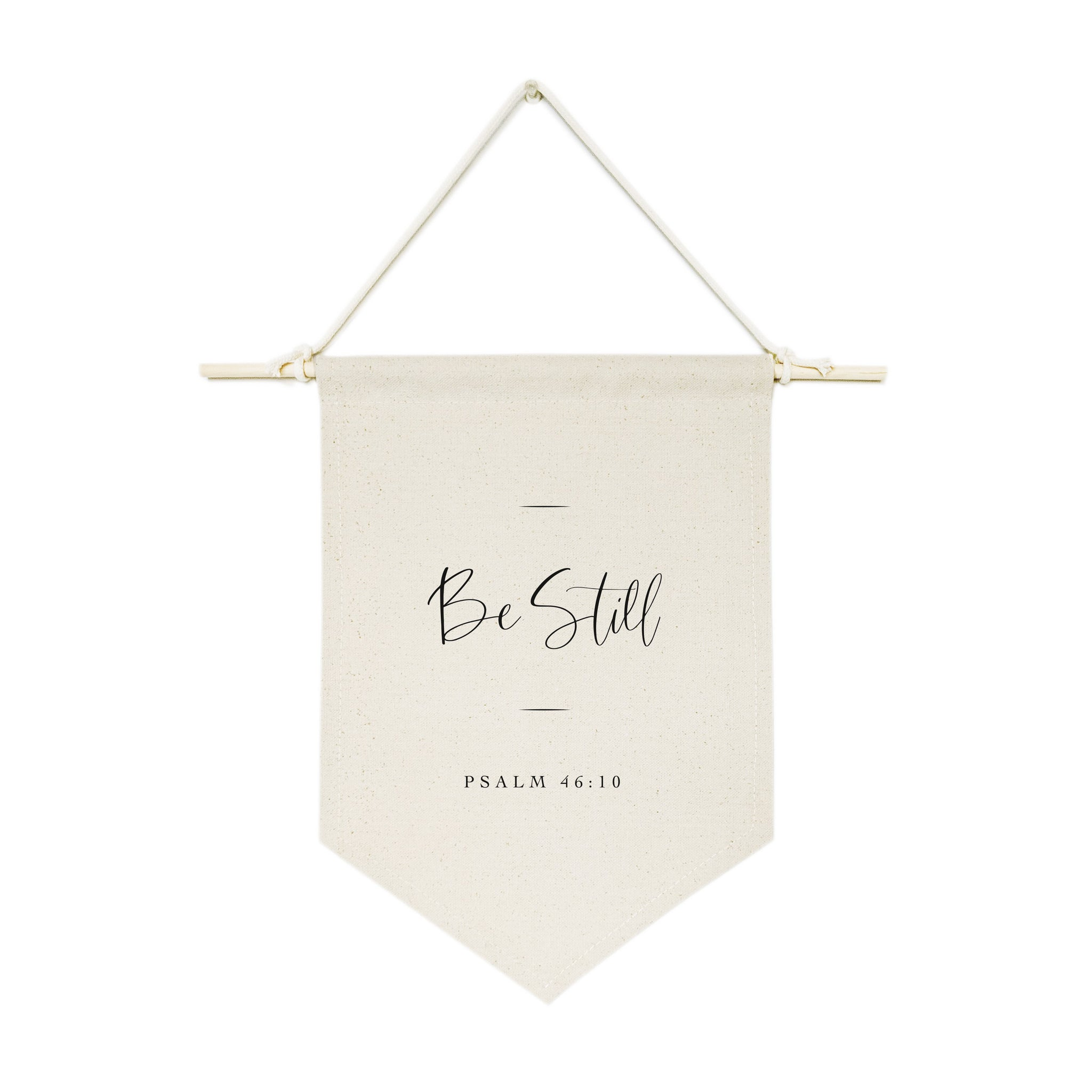 Be Still, Psalm 46:10 Hanging Wall Banner Cotton Canvas Scripture, Bible Hanging Wall Banner