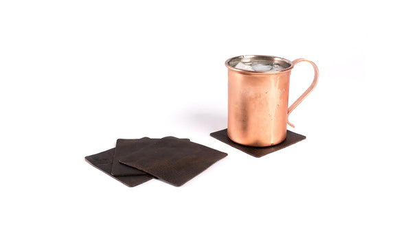 Leather Coaster Set