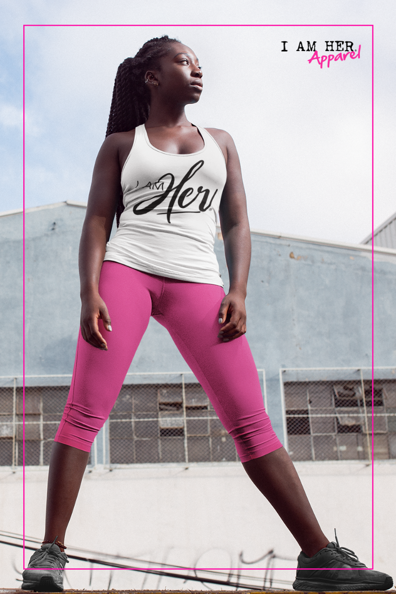 I AM HER Signature Women's Racerback Tank Tops - I AM HER Apparel, LLC