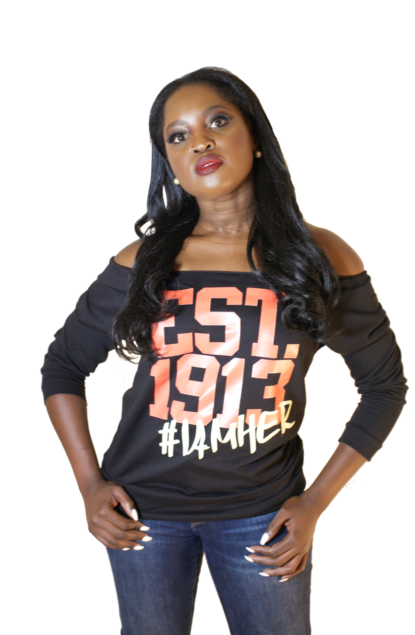 DST Inspired - EST.1913 Women's Wideneck 3/4 Sleeve Shirt