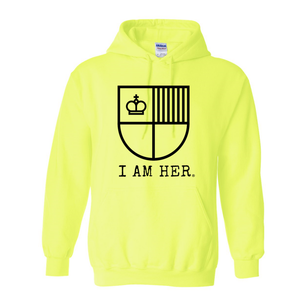 I AM HER Women's Hooded Sweatshirt - Neon - I AM HER Apparel
