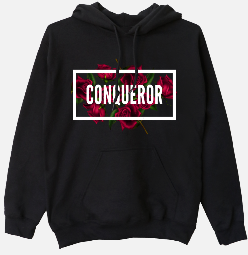 Conqueror -  Women's Hooded Sweatshirt - I AM HER Apparel, LLC