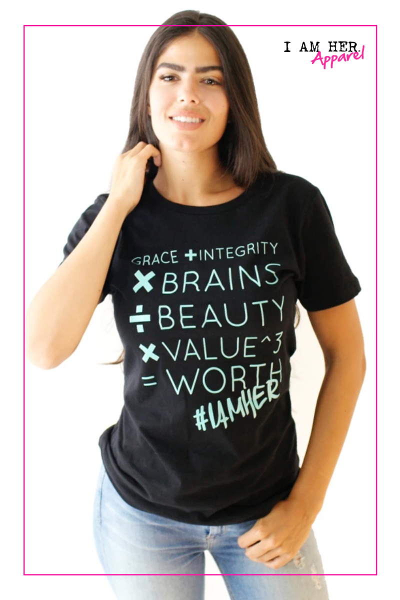 Grace + Integrity – Tees for Women – Black - I AM HER Apparel, LLC