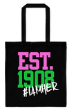 Alpha Kappa Alpha Inspired EST.1908 - Canvas Tote Bag - I AM HER Apparel, LLC