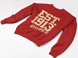 Delta Sigma Theta Inspired - EST. 1913 Women's Crewneck Sweatshirt - I AM HER Apparel, LLC