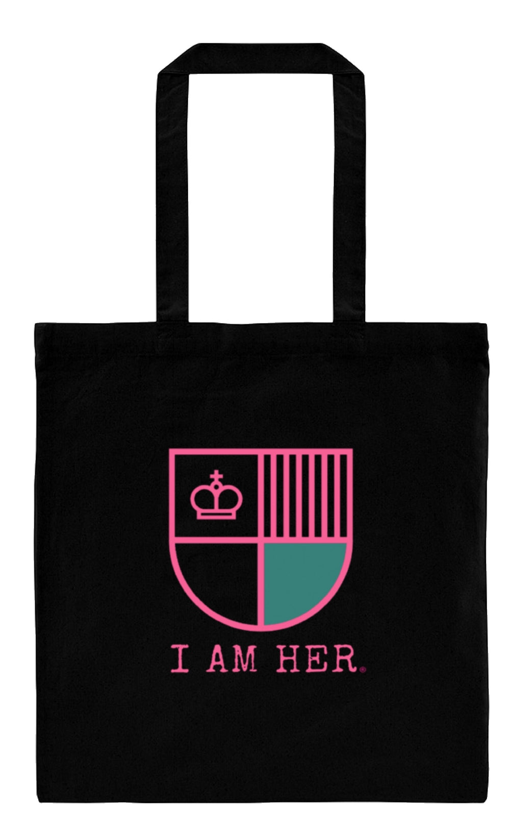 """I AM HER"" Shield - Canvas Tote Bag - I AM HER Apparel, LLC"
