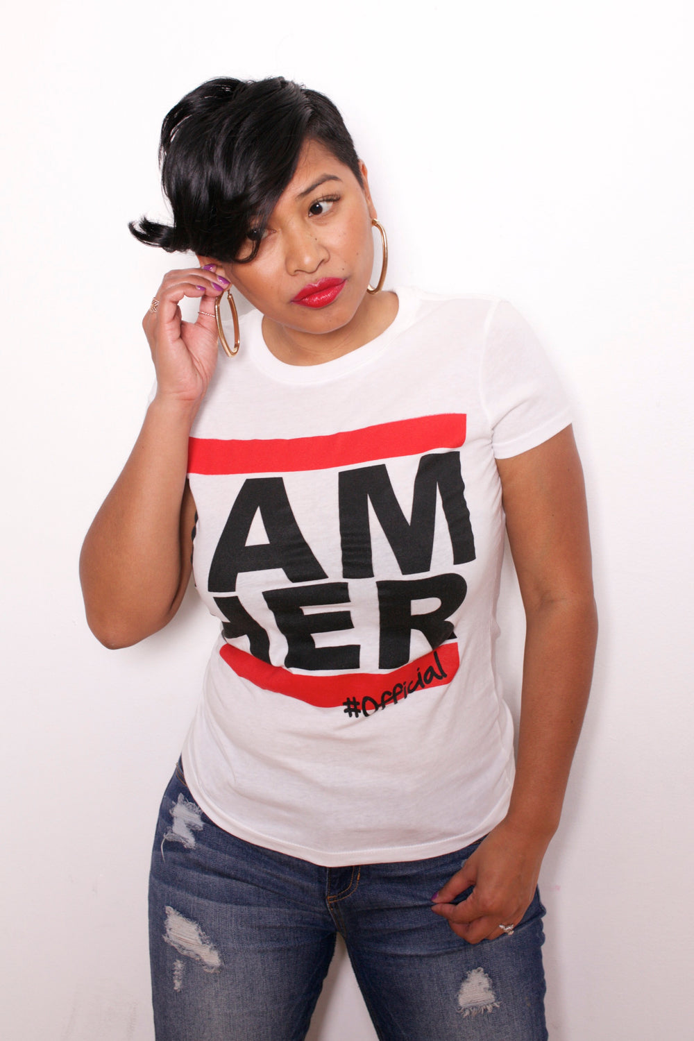 I AM HER Tees for Women - White