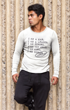 I AM A MAN – Casual Men's Longsleeve Shirt - I AM HER Apparel, LLC