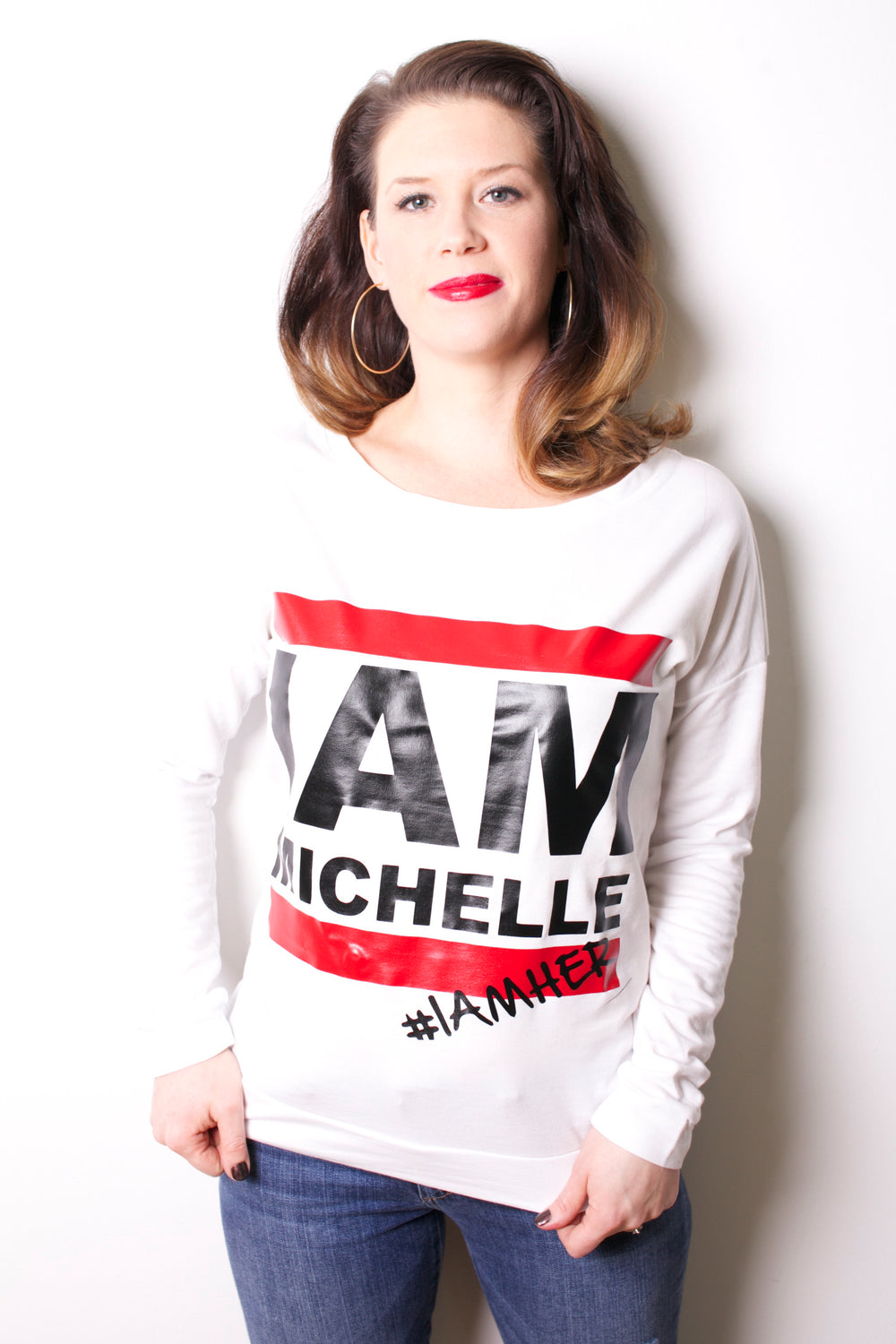 I AM MICHELLE (FLOTUS Inspired) - Women's Long Sleeve - White - I AM HER Apparel
