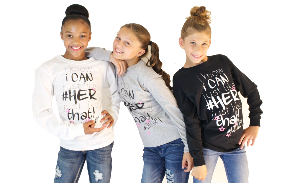 I Know I Can – Girls Long Sleeve - I AM HER Apparel, LLC