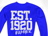 Zeta Phi Beta Inspired - EST. 1920 Women's Crewneck Sweatshirt - Royal