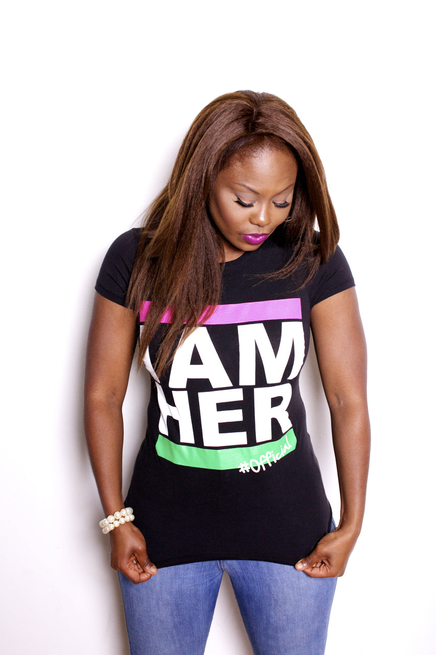I AM HER Tees for Women - Pink/Green - I AM HER Apparel, LLC