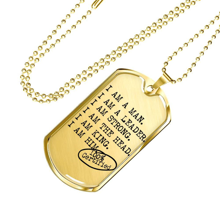 'I AM A MAN' Military Chain