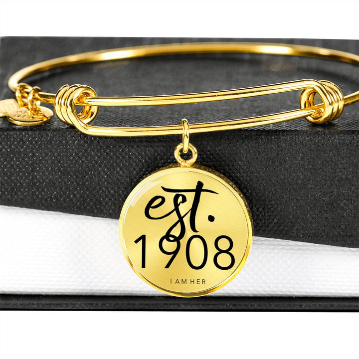 EST.1908 - Founded Bangle Bracelet