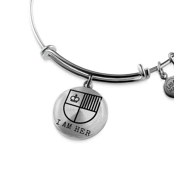I AM HER Shield Bangle Bracelet