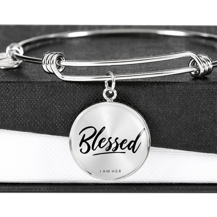 Blessed - Statement Bangle Bracelet
