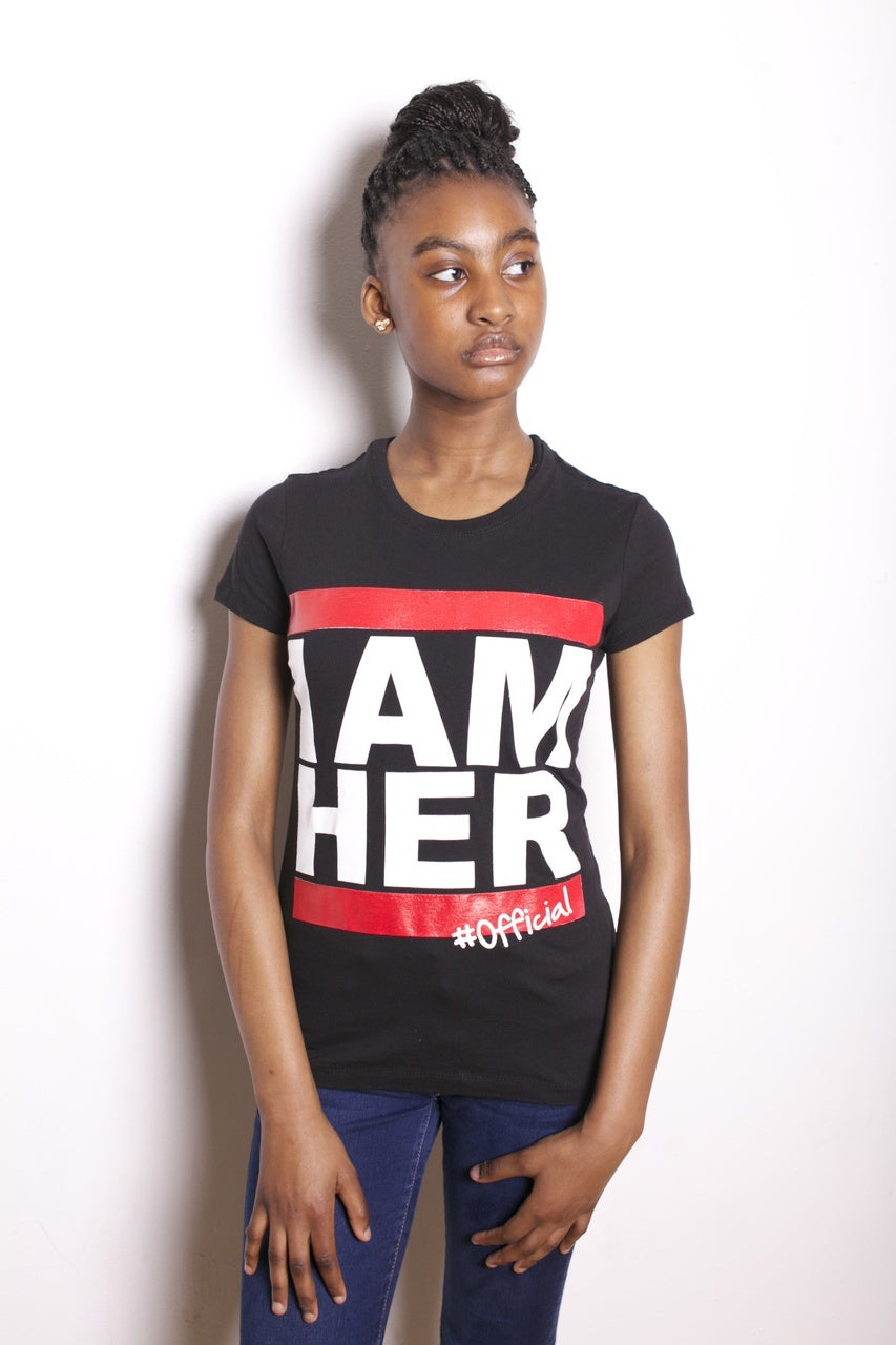 I AM HER Junior Girls Tee - Black - I AM HER Apparel, LLC