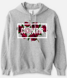 CONQUEROR - Statement Women's Hooded Sweatshirt - I AM HER Apparel, LLC