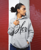 I AM HER Women's Hooded Sweatshirt - Gray - I AM HER Apparel, LLC