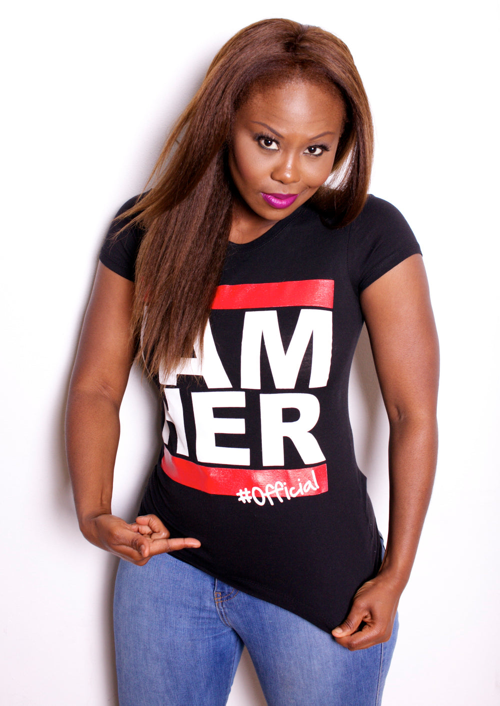 I AM HER Tees for Women - Black
