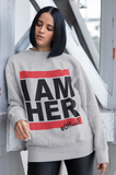 I AM HER Women's Crewneck Sweatshirt - Gray - I AM HER Apparel, LLC