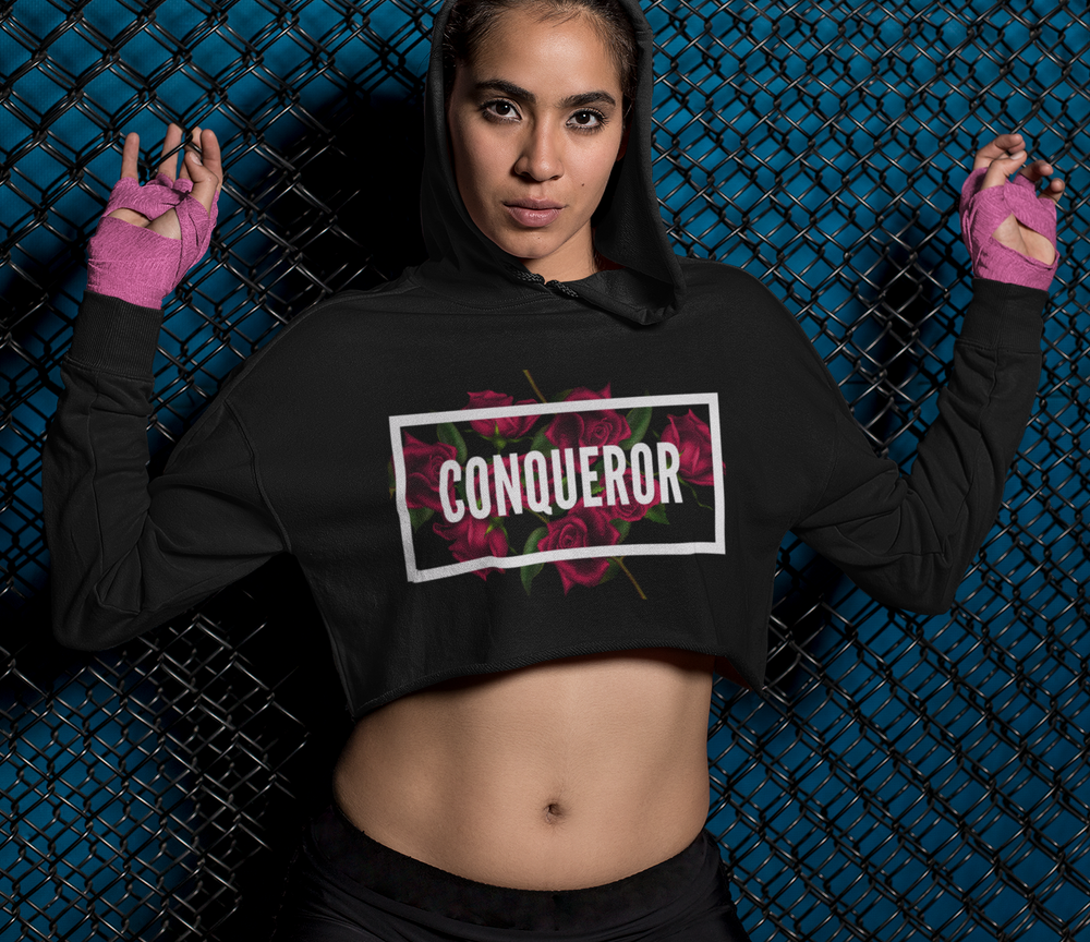 Conqueror... Women's Cropped Fleece Hoodie