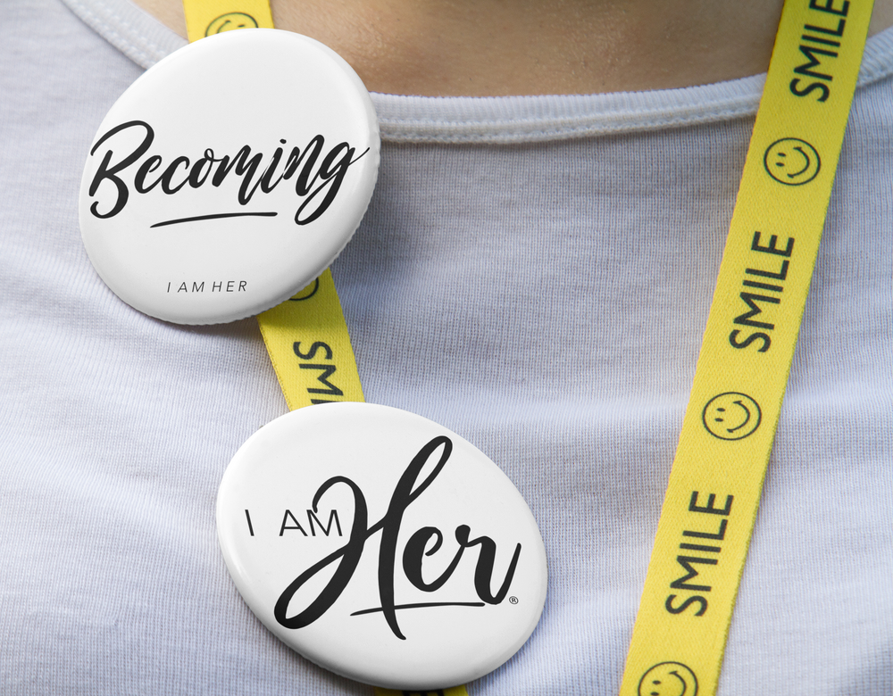 Becoming - Button 5 Pack Set - I AM HER Apparel, LLC