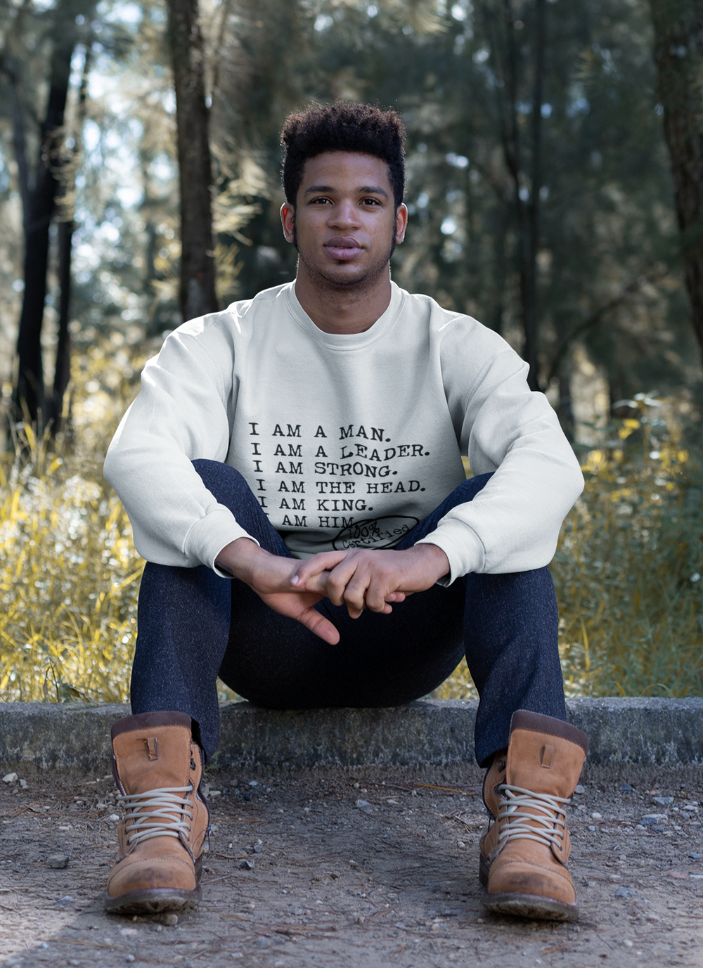I AM A MAN Casual Mens Crewneck Sweatshirt - I AM HER Apparel