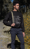 'I AM A MAN' Casual Mens Crewneck Sweatshirt - I AM HER Apparel, LLC